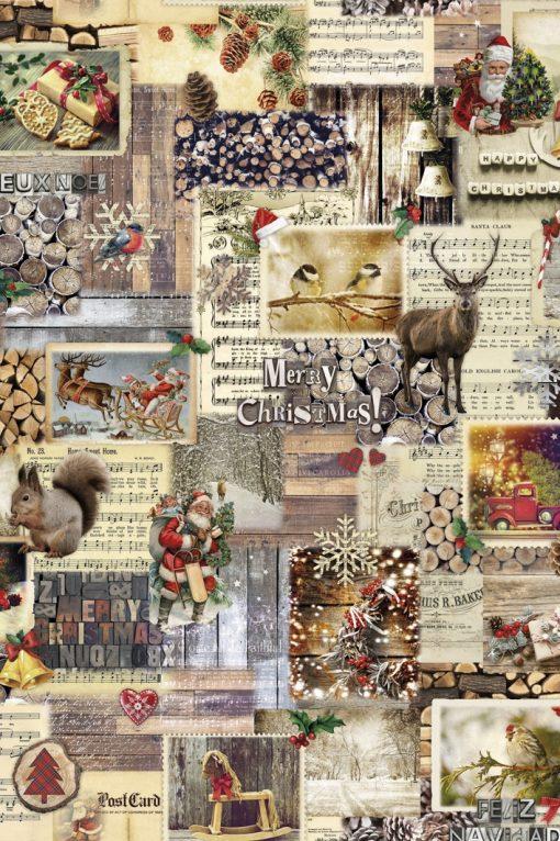 katoenen decoratiestof printstof kerst 91184-01, 1.151030.1185.180