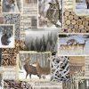 katoenen printstof gordijnstof decoratiestof wintersfeer 91185-01, 1.151030.1186.180
