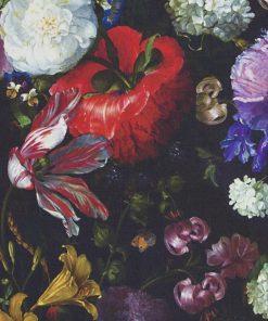 katoenen printstof pioenroos Hollandse Meesters decoratiestof gordijnstof meubelstof 91201-01, 1.151030.1200.655
