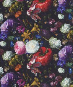 katoenen stof met pioenroos Hollandse Meesters decoratiestof gordijnstof meubelstof 91202-01, 1.151030.1201.655