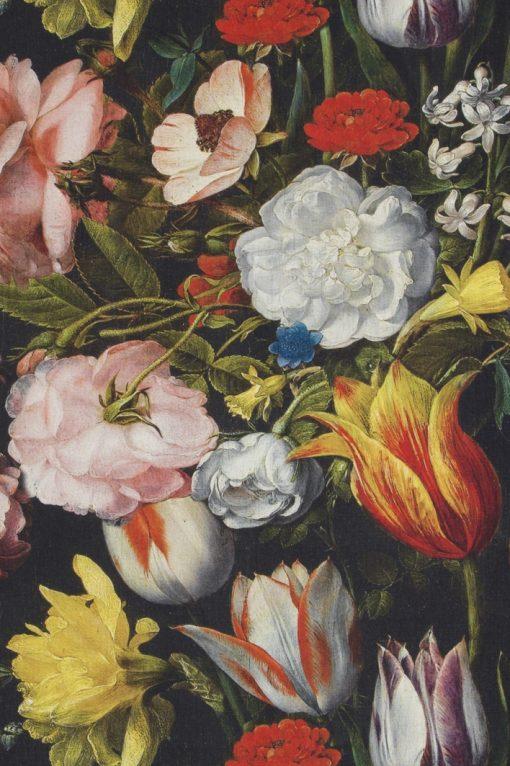 katoenen stof met bloemen van Hollandse Meesters decoratiestof gordijnstof meubelstof 91203-01, 1.151030.1202.655