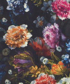 katoenen stof met bloemen Hollandse Meesters gordijnstof decoratiestof 91205-01, 1.151030.1204.655