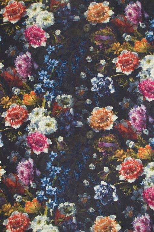katoenen stof met bloemen Hollandse Meesters gordijnstof decoratiestof 91206-01, 1.151030.1205.655