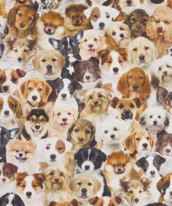 katoenen printstof met honden decoratiestof 91226-01, 1.151030.1225.180