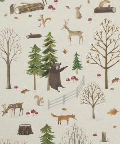 katoenen printstof winters gordijnstof decoratiestof 91244-01