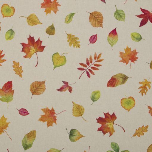 katoenen printstof met herfstbladeren gordijnstof decoratiestof 91308-01