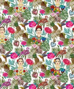 damast Felicita Blanc stof in Latin stijl decoratiestof gordijnstof meubelstof