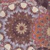 Damast Fleur de Vie Sienne stof met mandala decoratiestof gordijnstof meubelstof