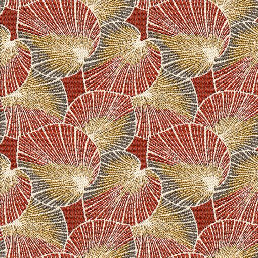 Jacquardstof Lotus Terra stof met lotusblad