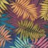 Damast Palma Multico stof met palmbladen decoratiestof gordijnstof meubelstof
