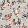 jacquardstof Paulina Lin stof met kippen gordijnstof decoratiestof meubelstof
